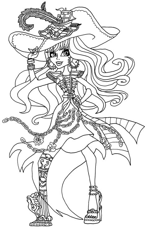 monster high kiyomi haunterly coloring pages haunted vandala doubloons by elfkena on deviantart