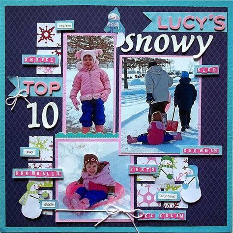 Snow Layout by Snow Layout Scrapbook Stuff