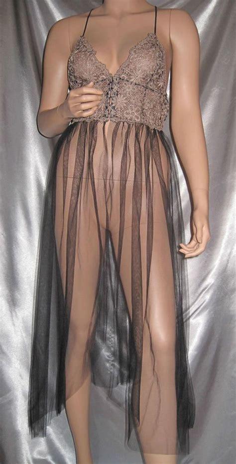 Sheer Lace Nightdress s secret sheer corset top nightgown lace