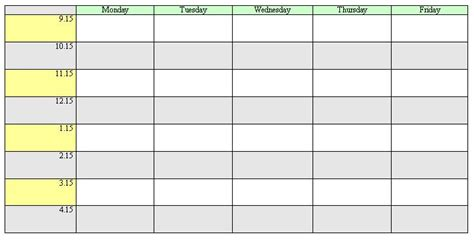 timetable template new calendar template site