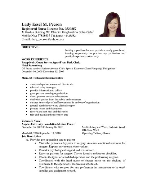 Job Application Letter With Resume by Application Letter Format For Volunteer Nurse Order Custom