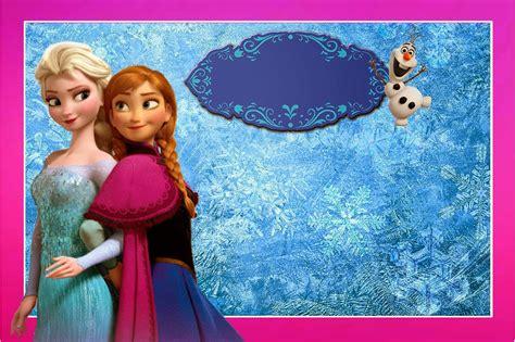 film terbaru frozen 2 kit de frozen con orilla fucsia para imprimir gratis