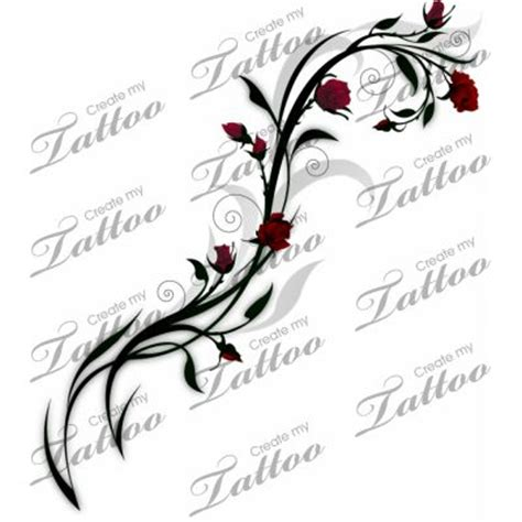 rose with vines tattoo designs vine of roses design vine designs
