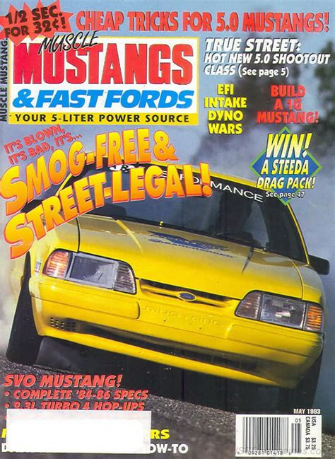 mustangs and fast fords back issues backissues mustangs fast fords may 1993