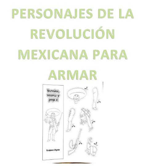 imagenes de la revolucion mexicana con nombres personajes de la revoluci 243 n mexicana para armar material