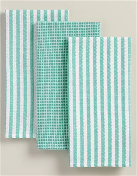 kitchen towels aqua waffle weave kitchen towel set everything turquoise