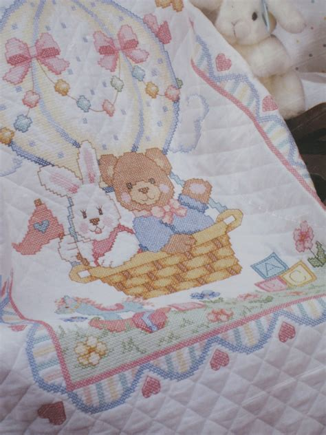 Cross Stitch Baby Quilt by Baby Quilt Kit Sted Cross Stitch 1992 Dimensions