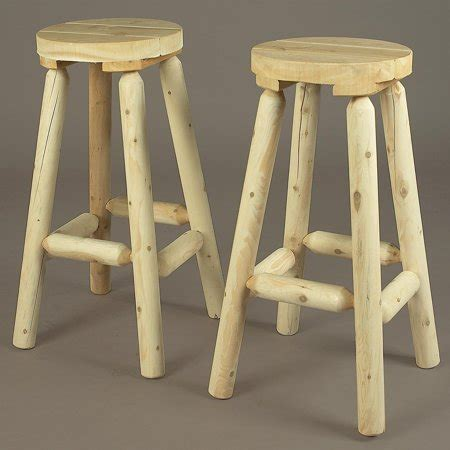 Rustic Backless Bar Stools by Rustic Cedar Furniture Backless Bar Stool Set Of
