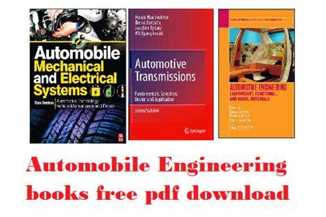 automobile engineering books free engineering exams