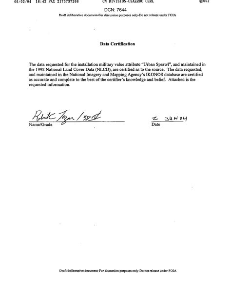 certification letter on the data certification letter digital library