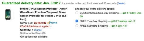Anker Clearshell For Iphone 7 Clear A7054002 anker iphone 7 plus glass screen protector for 0 90 from