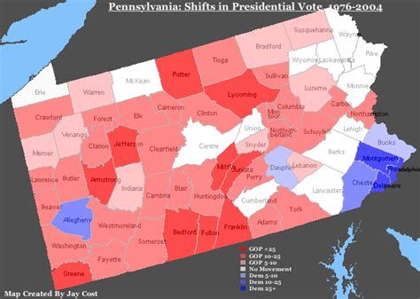 political map of pennsylvania realclearpolitics horseraceblog shifting sands of pa