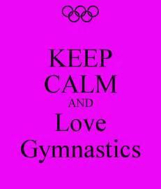Gymnastics Wall Stickers keep calm and love gymnastics keep calm and carry on
