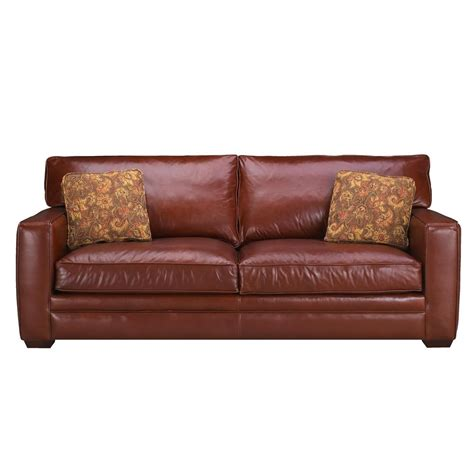 klaussner homestead leather sofa hudson s furniture sofa