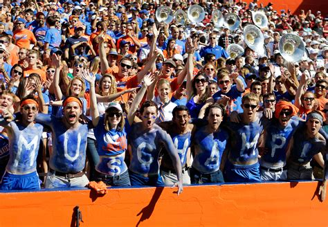 best college student sections florida student sections in college football espn