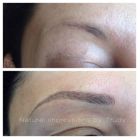 semi permanent makeup hairstroke technique for eyebrows