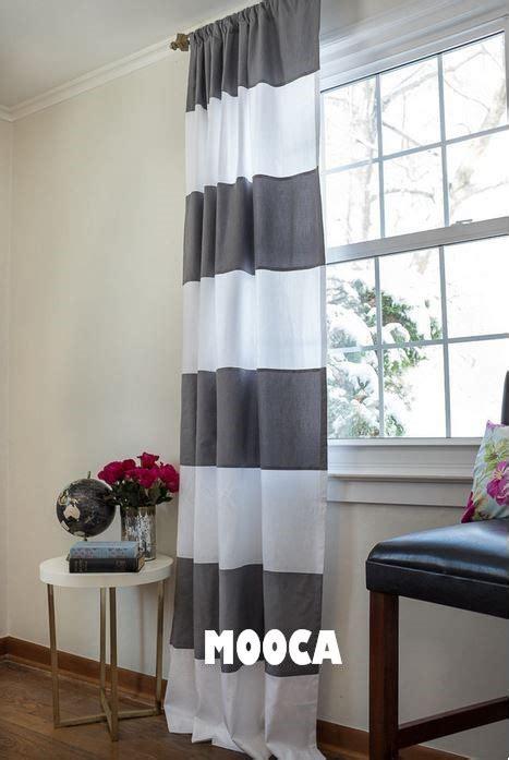 grey and white horizontal stripe curtains width 180cm 100 cotton grey and white horizontal stripe