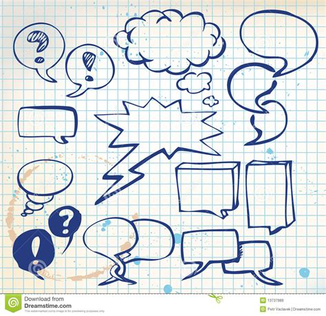 doodle doodle do jogo de bolhas do discurso do doodle imagens de stock