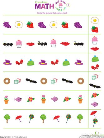 pattern activities pre k pattern worksheets for nursery worksheets for all