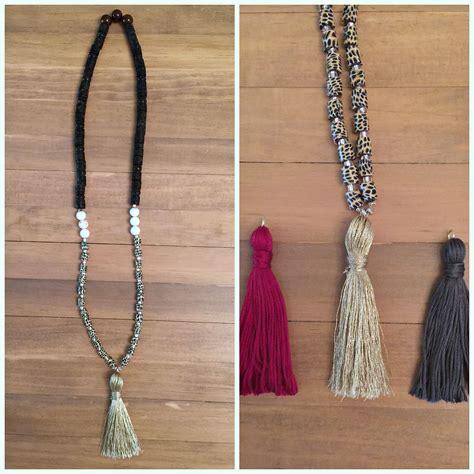 diy tassels diy beaded tassel necklace