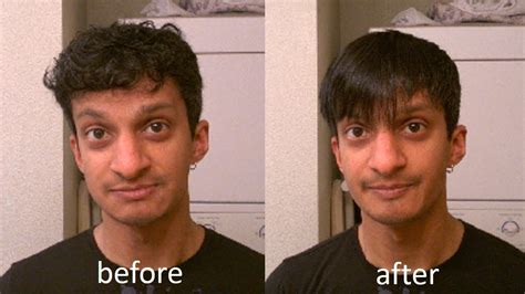 Before And After Straight To Curly Hair Male | how to straighten and style short wavy men s hair youtube