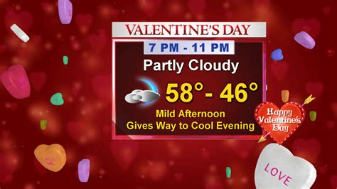 cold valentines day pleasant weather for s day but a cold front