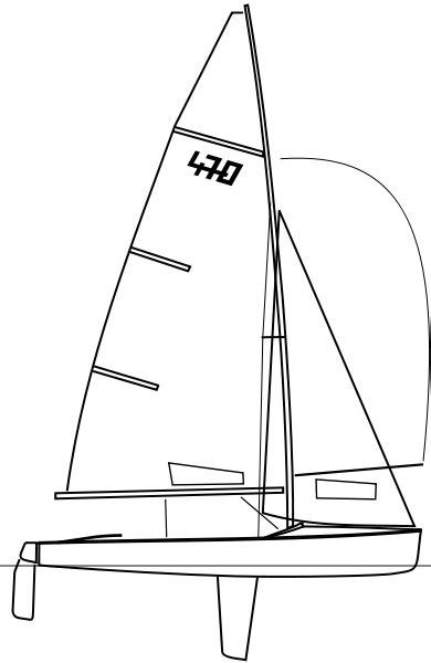 dessin bateau laser file 470 dinghy svg wikimedia commons