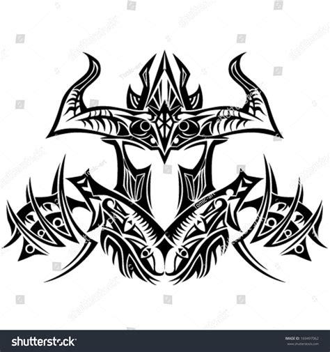 tribal tattoo knight tribal vector knight design 169497062 shutterstock