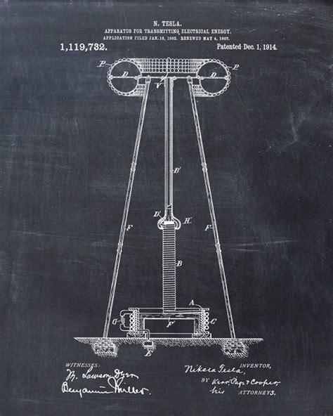 Tesla Coil Patent Patent Print Tesla Coil Tesla Wall Tesla Print