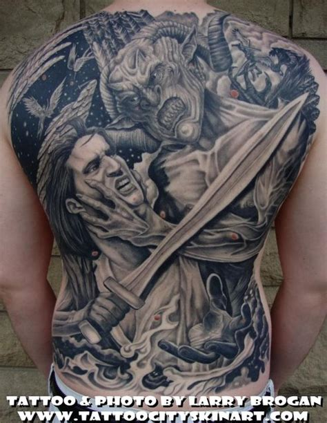 larry tattoos angle vs backpiece by larry brogan tattoos