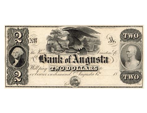 bank of augusta 1800s 2 the bank of augusta obsolete bank note