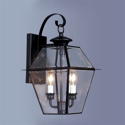 Outdoor Shop Lighting Shop Livex Lighting Westover 16 5 In H Black Outdoor Wall Light At Lowes