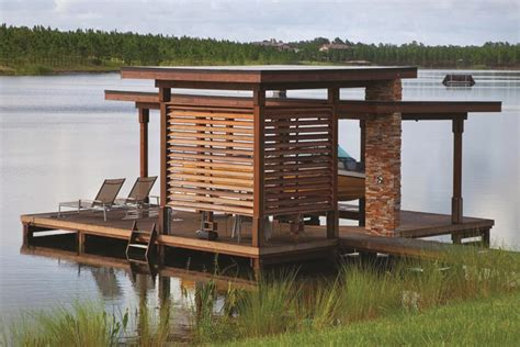 boat lift removal ideas boat dock the perfect lakeside hangout builder magazine