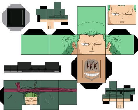One Papercraft - roronoa zoro time skip by hollowkingking on deviantart