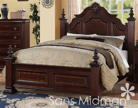new chanelle size bed set 2 pc traditional cherry wood bedroom furniture ebay