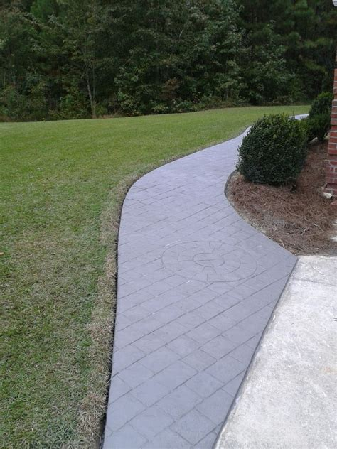 Stamped Concrete ? overlay over existing concrete   SIDER