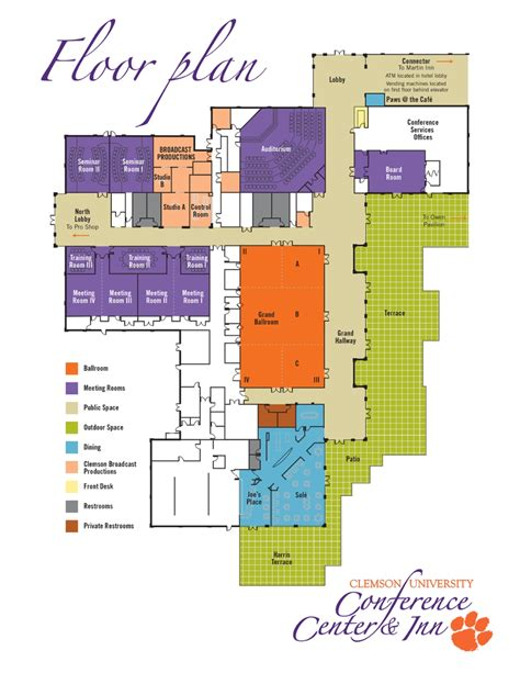 facility floor plan facilities clemson university south carolina