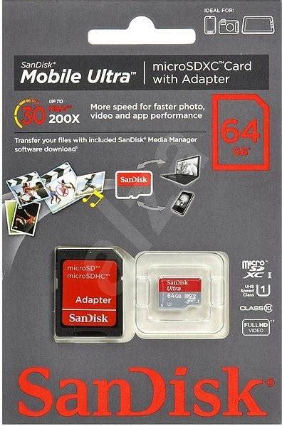 Microsd Sandisk 64gb Class 10 Na sandisk micro sdxc 64gb ultra class 10 sd adapt 233 r