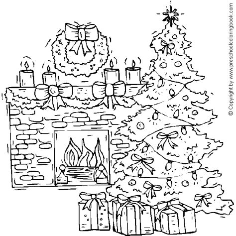 coloring page of a christmas tree with decorations christmas tree coloring pages coloringpages1001 com