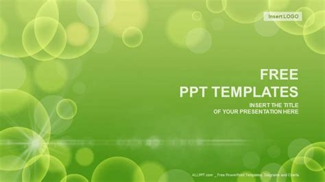 template ppt free green green circle abstract powerpoint templates download free