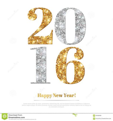 new year gold vector happy new year greeting card with gold and silver numbers