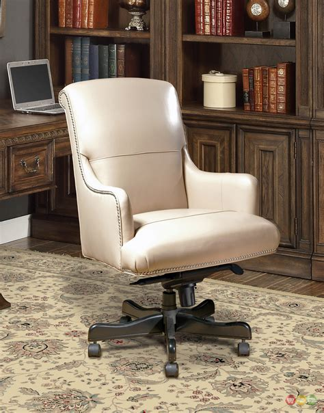 beige office desk chair traditional office furniture desk chair beige leather