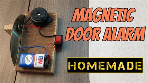 how to make a magnetic door security alarm theft alert