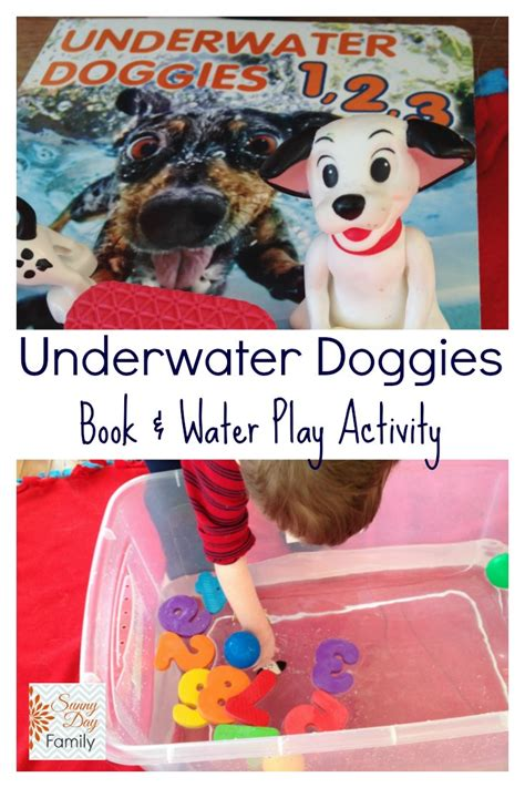 under water activity book underwater doggies book water play activity for preschoolers sunny day family
