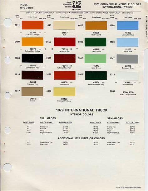 international paint color code chart ideas goldman motors 187 ih scout paint codes color chip