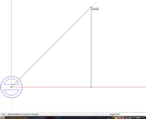 l angolo dei testi tutorial sketchup 9 i comandi misura quota goniometro