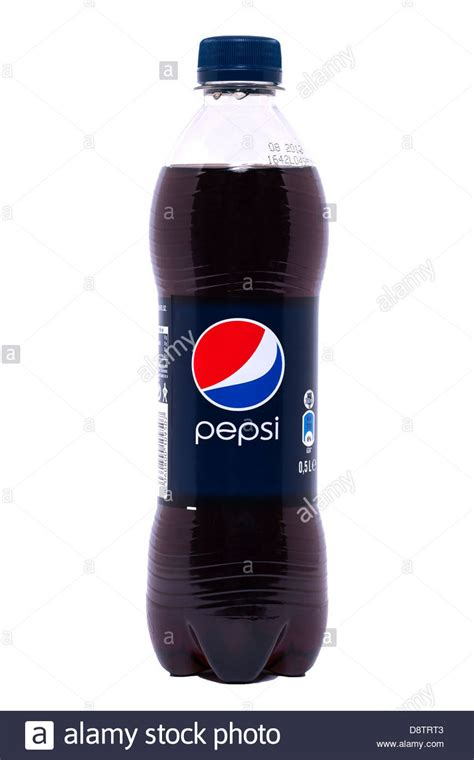 a bottle of pepsi cola on a white background stock photo