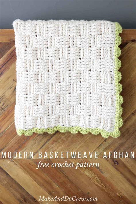 crochet comforter modern crochet basket weave blanket free pattern
