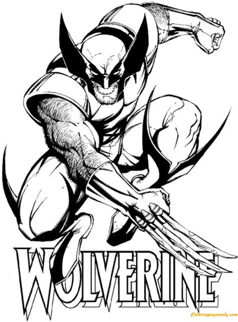 avengers wolverine coloring pages wolverine from avengers coloring page free coloring