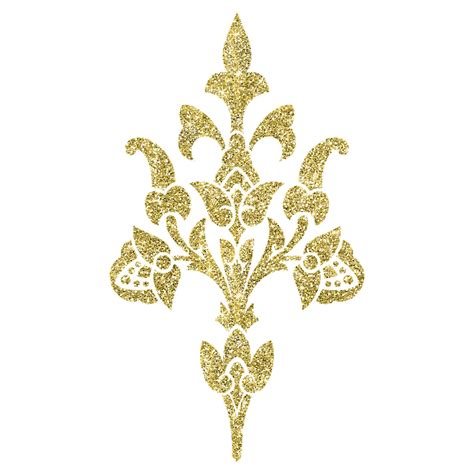 golden pattern png free illustration gold authentic silvery flowering